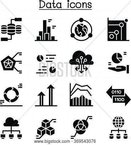 Data, Infomation, Diagram, Graph Icon Set Vector Illustration Graphic Design