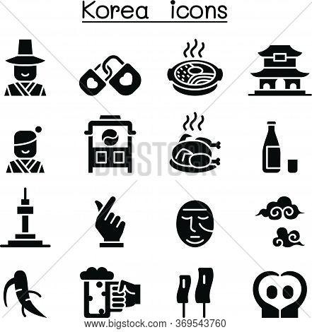 Korea Icon Set Vector Illustration Graphic Design