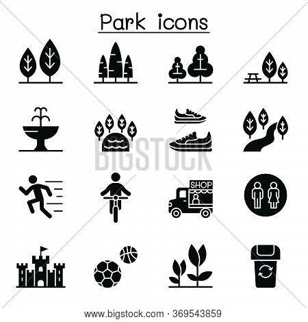 Park Icon Set Vector Illustration Graphic Design