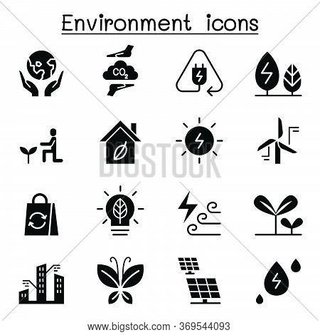 Environment & Ecology Icon Set Vector Illustration Graphic Design