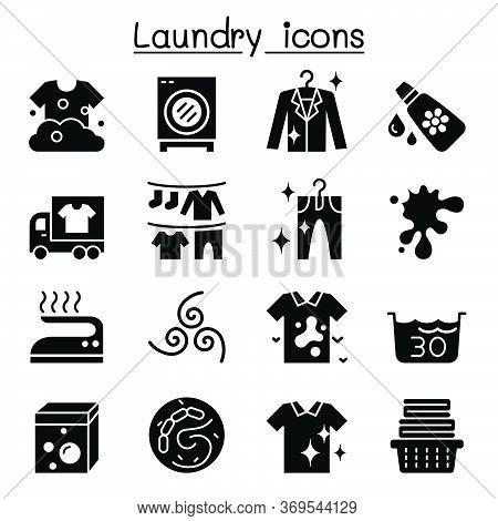 Laundry Icon Set Vector Illustration Graphic Design