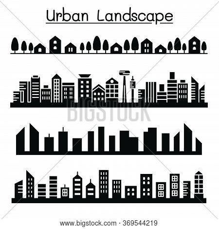 Urban Landscape, City  Skyline Vector Illustration Graphic Design