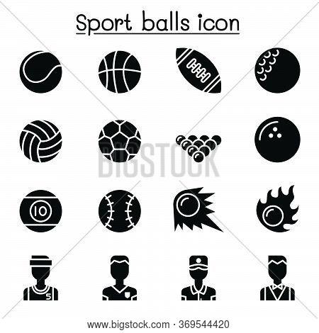 Sport Balls Icon Set Vector Illustration Graphic Design