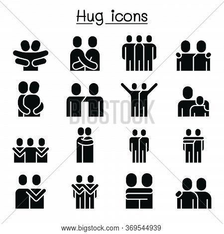 Love, Hug, Friendship, Relationship Icon Set Vector Illustration Graphic Design