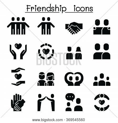 Care & Friendship Icon Set Vector Illustration Graphic Design