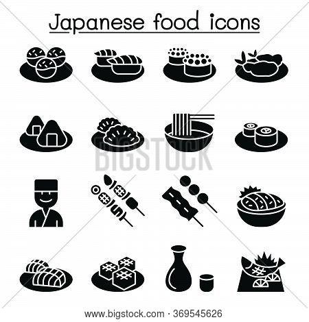 Japanese Food Icon Set Vector Illustration Graphic Design