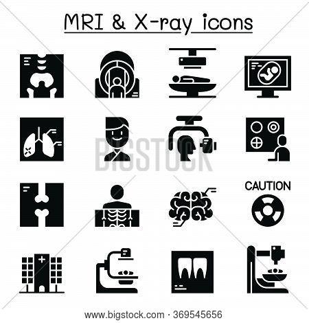 X-ray, Mri & Medical Diagnostic Icon Set Vector Illustration Graphic Design