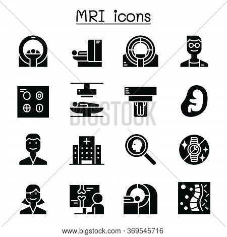 Mri Diagnostic Icon Set Vector Illustration Graphic Design