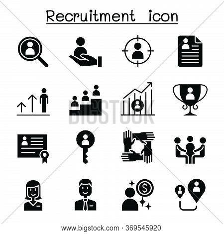 Recruitment & Job Icon Set Vector Illustration Graphic Design