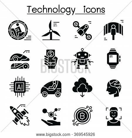 Technology Icon Set Vector Illustration Graphic Design