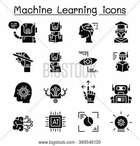 Machine Learning Icon Set Vector Illustration Graphic Design