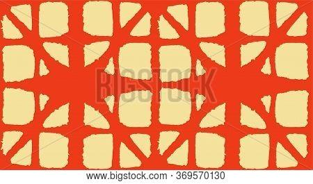 Japanese Tie Dye Seamless Pattern. Deco Curve Arc Pattern Glamour Kimono Fabric. Geometric Bohemian