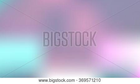 Defocused Mesh Vector Background, Hologram Neon Overlay. Funky Pink, Purple, Turquoise Dreamy Tender