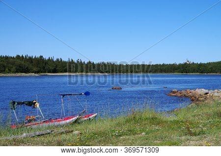 Coast Of The White Sea In Solovki, Russia