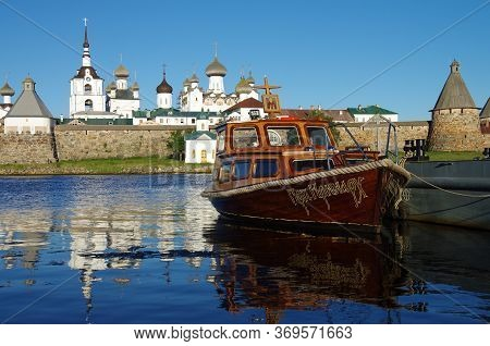 Solovki, Republic Of Karelia, Russia - August, 2017: View On Solovetsky Monastery From The White Sea