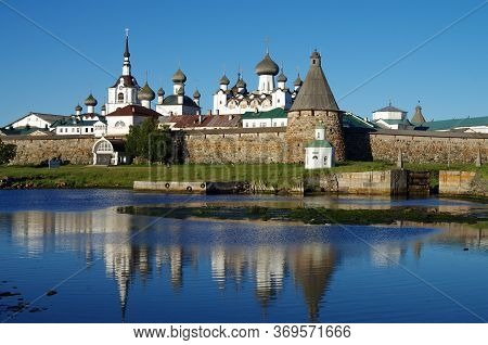 Solovki, Republic Of Karelia, Russia - August, 2017: Solovetsky Monastery From The White Sea