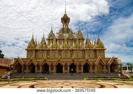 Uthai Thani Province, Thailand - August, 2016: Wat Tha Sung Castle - Uthai Thani, Thailand