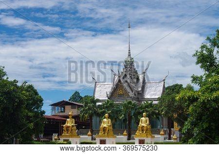 Uthai Thani Province, Thailand - August, 2016: Wat Tha Sung Castle  Or Wat Chantharam