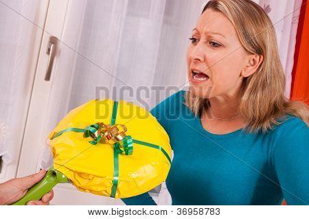 Young Woman Gets An Loveless Gift
