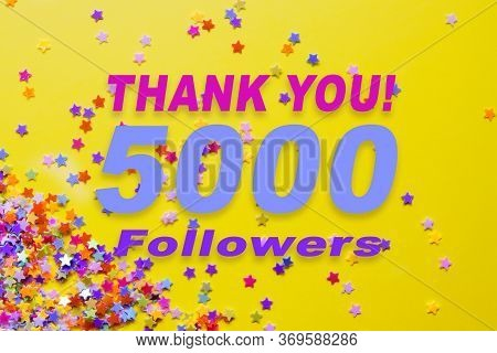 Thanks To Subscribers Of 5000 Followers For Social Networks Banner