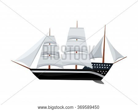Yacht Sailboat Or Sail Boat Marine. Cruise Travel Company. Sailing Ship Symbol