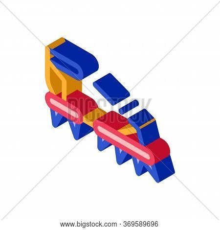 Ice-climbing Alpinism Spike Shoe Tool Vector Isometric Sign. Color Isolated Symbol Illustration