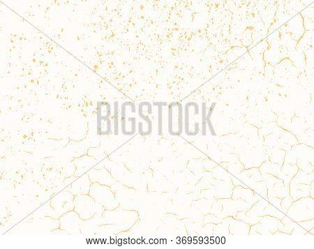 Vector Gold Chic Texture. Patina Scratch Golden Distress Grunge Background. Gold Distressed Effect.