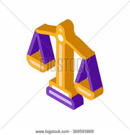 Scales Law And Judgement Icon Vector Isometric Sign. Color Isolated Symbol Illustration