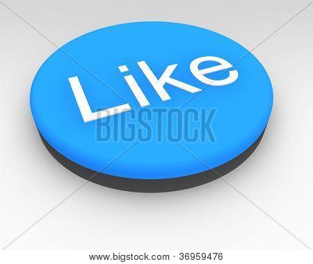 Blue Social Media Like Button