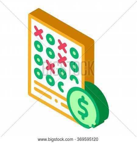 Bet Sheet Betting And Gambling Icon Vector Isometric Sign. Color Isolated Symbol Illustration