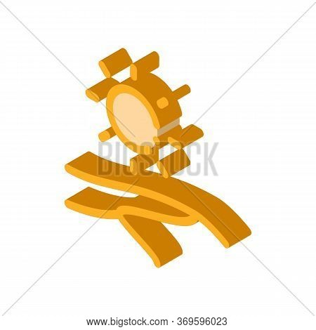 Desert Icon Vector. Isometric Desert Sign. Color Isolated Symbol Illustration