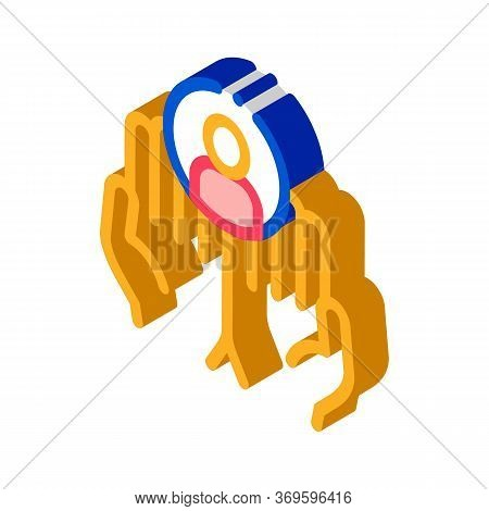 New Client Icon Vector. Isometric New Client Sign. Color Isolated Symbol Illustration