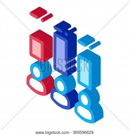 Voter Rating Icon Vector. Isometric Voter Rating Sign. Color Isolated Symbol Illustration