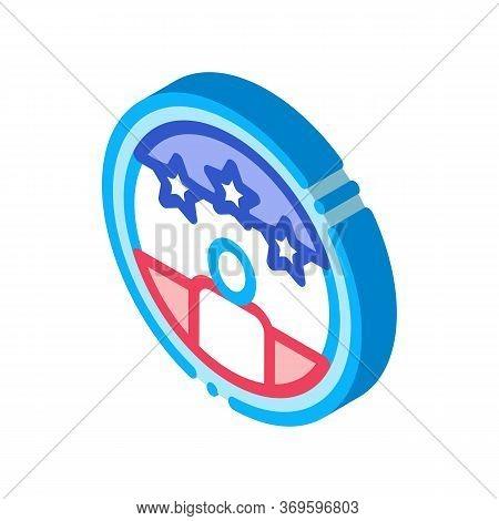 Voter Winner Icon Vector. Isometric Voter Winner Sign. Color Isolated Symbol Illustration