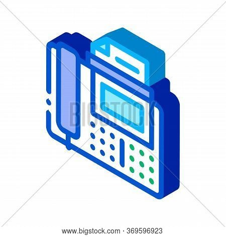 Fax Icon Vector. Isometric Fax Sign. Color Isolated Symbol Illustration