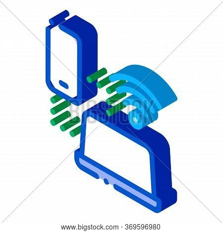 Smartphone And Laptop Wi-fi Connection Icon Vector. Isometric Smartphone And Laptop Wi-fi Connection