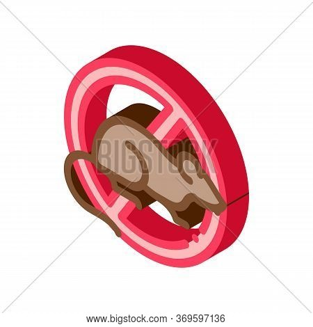 Sign Against Rat Icon Vector. Sign Against Rat Sign. Color Isolated Symbol Illustration
