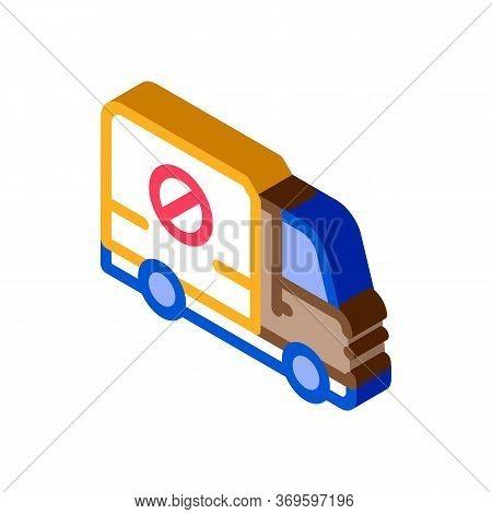 Kill Truck Icon Vector. Isometric Kill Truck Sign. Color Isolated Symbol Illustration