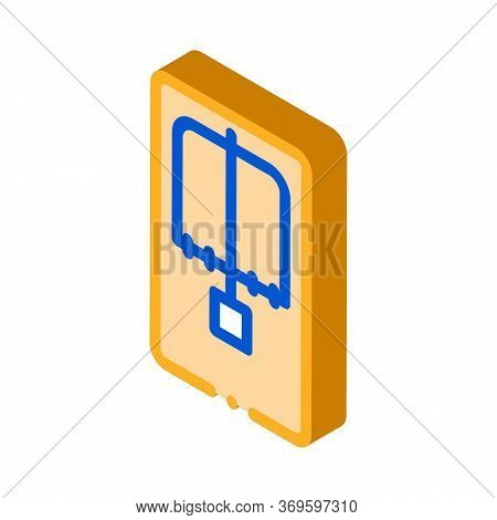 Mousetrap Above View Icon Vector. Isometric Mousetrap Above View Sign. Color Isolated Symbol Illustr