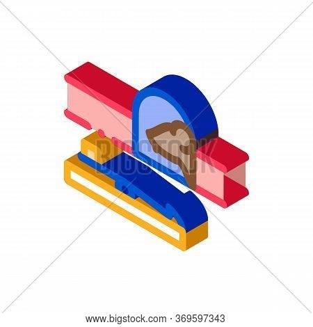 Mousetrap Icon Vector. Isometric Mousetrap Sign. Color Isolated Symbol Illustration