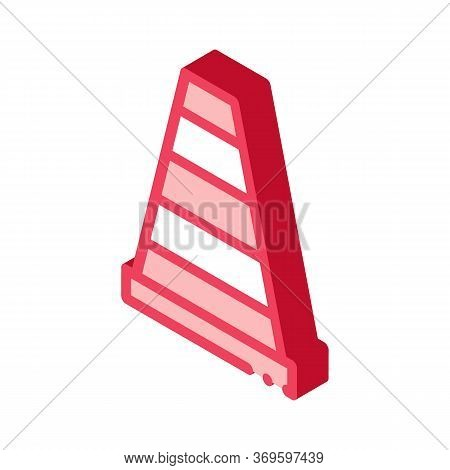 Road Cone Icon Vector. Isometric Road Cone Sign. Color Isolated Symbol Illustration
