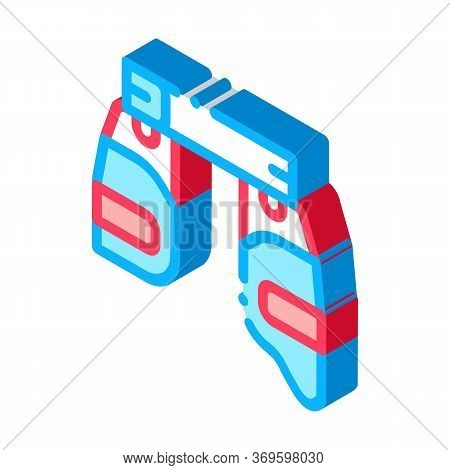 Safety Vest Icon Vector. Isometric Safety Vest Sign. Color Isolated Symbol Illustration
