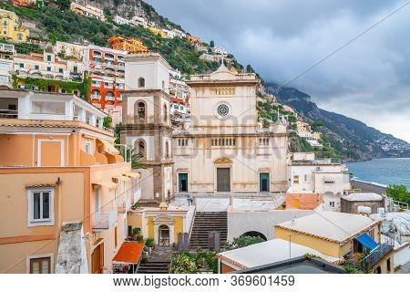 Church Of Santa Maria Assunta At Positano Town, Amalfi Coast, Italy
