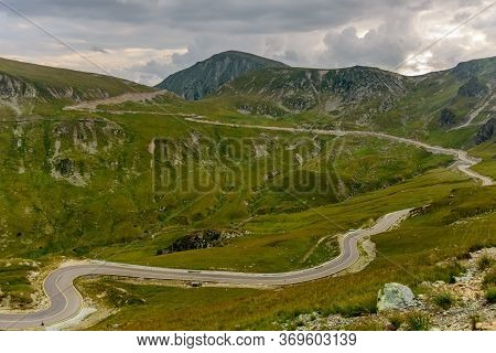 Amazing Panorama View Of The Highest Road In The Romanian Parang Mountains -  Transalpina