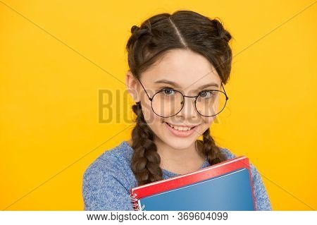 Get Ready For Classes. Inspiring Education. Private Schooling. Cute Smiling Schoolgirl. Girl Little
