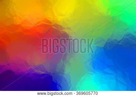 Hipster Multi Colored Abstract Texture With Crystalline Surface Style - Creative Design Background I