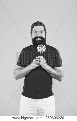 Dieting For Health. I Love Sweets. Sweet Taste. Happy Hipster Lollipop Candy. Taste Of Childhood. Ea