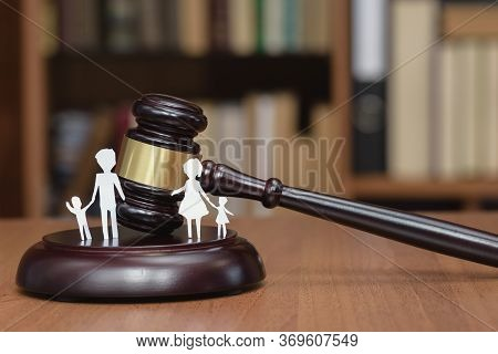 Court And The Rights Of The Family And Children. Legal Area Children. Section Of Children During A D