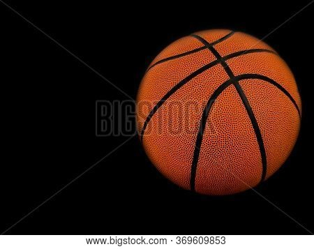 Basketball Isolated On A White Background As A Sports Basketball Isolated On A Black Background As A