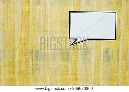 Text Mark Frame For Writing Inscriptions, On The Background Of Papyrus Paper Writing Material For Cr